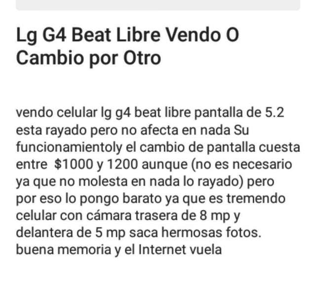 Lg G4 Beat Libre