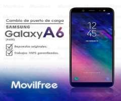 Reparación de entrada de carga Samsung Galaxy A6 2018