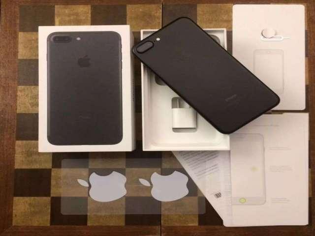 iPhone 7 Plus 128 Gb Black Mate Garantía Boleta Inmaculado y Cases