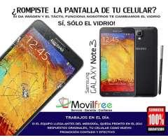 Cambio de vidrio de pantalla de Samsung Galaxy NOTE 3 Oferta!
