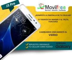 Cambio de vidrio de pantalla Samsung J3 Pro