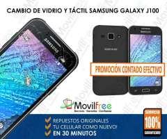 Cambio de vidrio y táctil de pantalla Samsung Galaxy J100 en 30 min Oferta contado